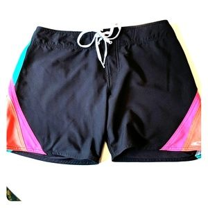 O'Neill SuperFreak Neon and Black Boardshorts